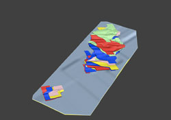 3D Zones Topo Surface DDH
