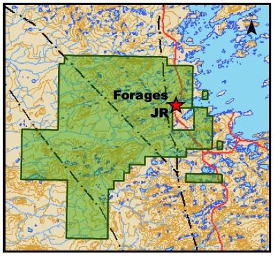 Localisation des forages JR