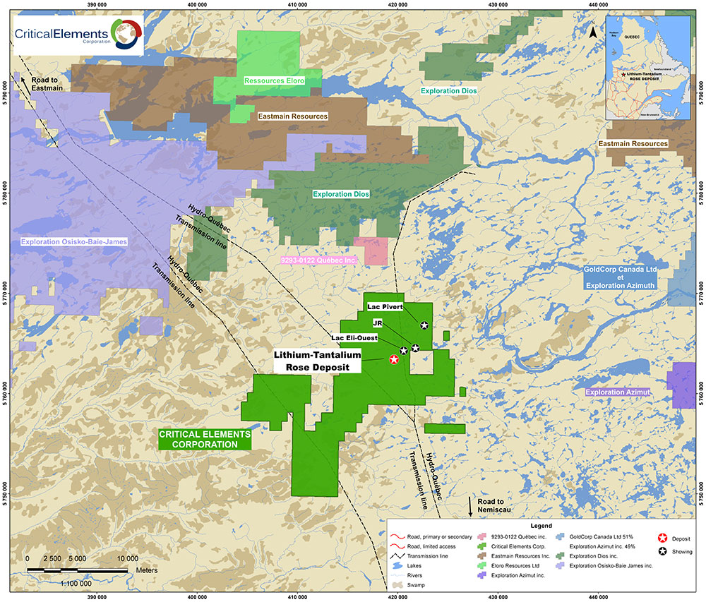 Drilling location and    claim holder map